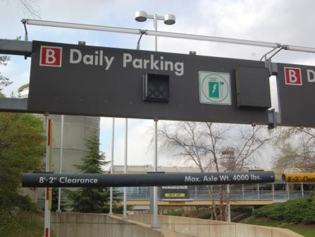 Daily Garage B Entrance Sign